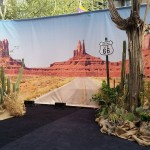 Get your kicks on Route 66. Living and Cactus skeleton Display.
